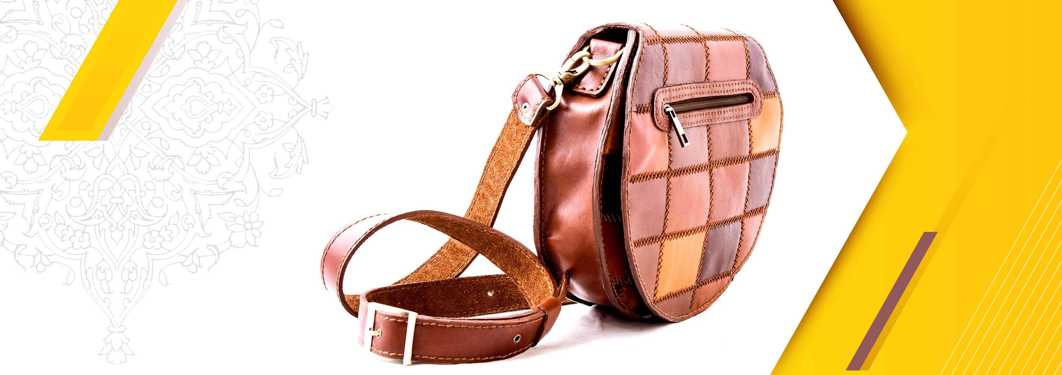 Circle appliqué satchel bag