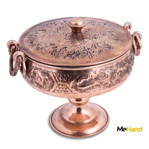 Copper chocolate bowl